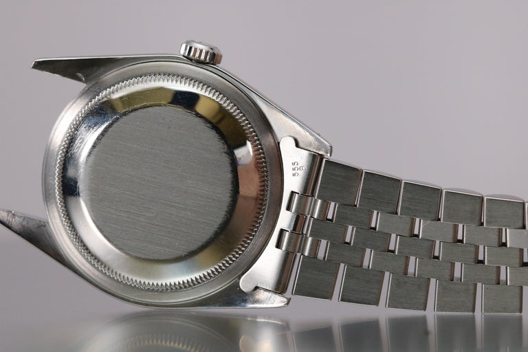 Rolex Stainless Steel Datejust Automatic Wristwatch Ref 16200, circa 1991 For Sale 3