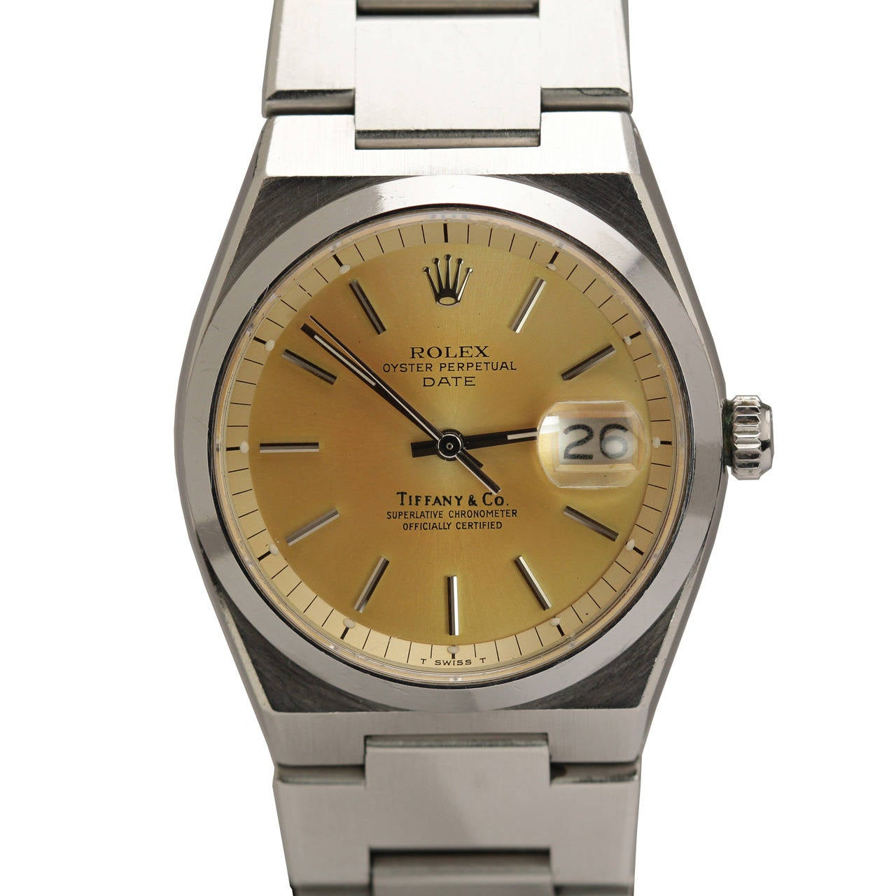 f85a8d9cd6d Rolex Stainless Steel Oyster Perpetual Date Ref 1530 Retailed by Tiffany &  Co.