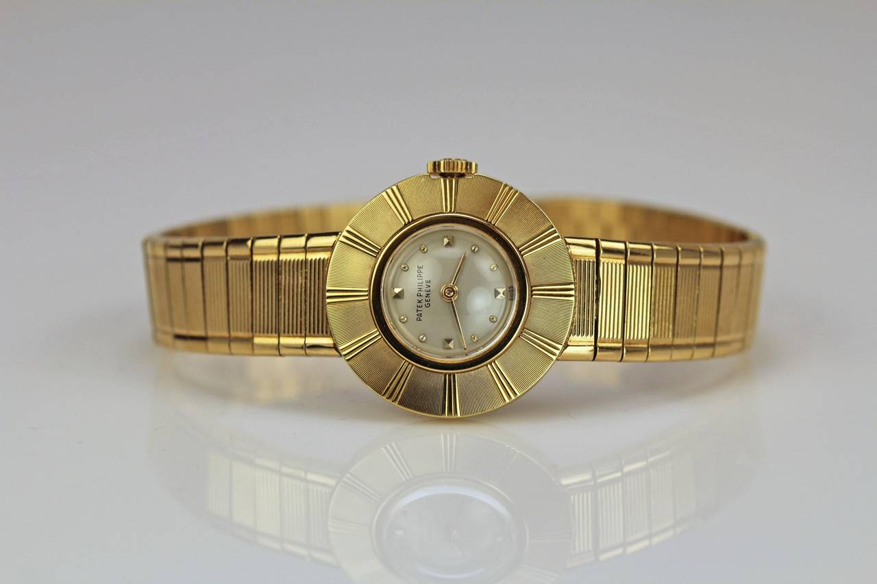 Patek Philippe & Co. Lady's Yellow Gold Wristwatch Ref 3246 For Sale 5