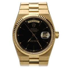 Rolex Yellow Gold Day-Date Quartz Wristwatch Ref 19018