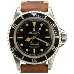 Rolex Stainless Steel Submariner Wristwatch with Gilt Dial Ref 5512 circa 1962
