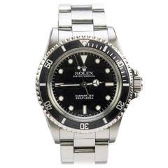 Rolex Stainless Steel Submariner-L Series Wristwatch Ref 5513