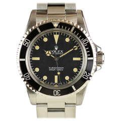Rolex Stainless Steel Submariner Wristwatch Ref 5513 circa 1983