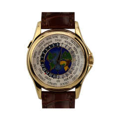 Patek Philippe Yellow Gold Ref World Time Wristwatch Ref 5131J
