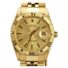 "Rolex Yellow Gold Datejust ""Thunderbird"" Wristwatch Ref 1625 circa 1967"