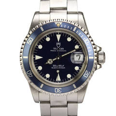 Tudor Stainless Steel Prince Oysterdate Submariner Wristwatch Ref 79090