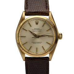 """Rolex Yellow Gold Oyster Perpetual """" Serpico Y Laino"""" Wristwatch Ref 1005"""