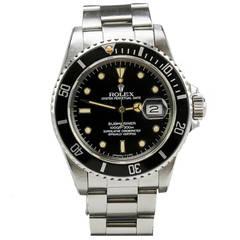 Rolex Stainless Steel Submariner Wristwatch Ref 16800