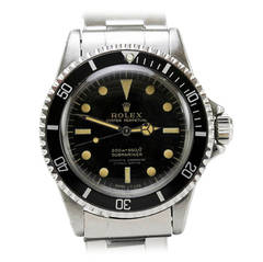 Rolex Stainless Steel Gilt Dial Submariner Wristwatch Ref 5512