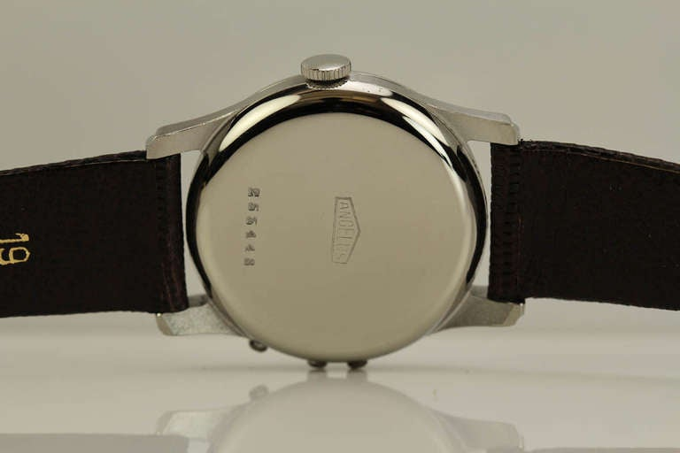 Angelus Stainless Steel Datoluxe Wristwatch 6