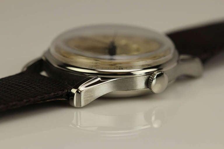 Angelus Stainless Steel Datoluxe Wristwatch 7
