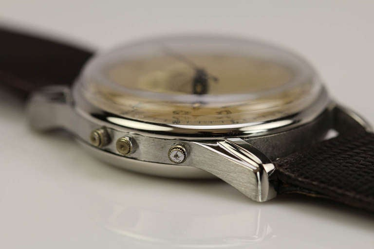 Angelus Stainless Steel Datoluxe Wristwatch 8