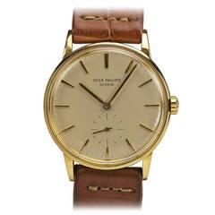 Patek Philippe Yellow Gold Automatic Wristwatch Ref 3425
