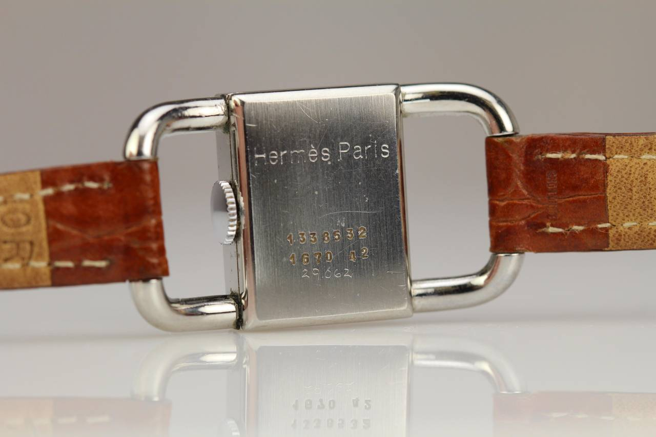 JAEGER-LECOULTRE for Hermes Paris in Stainless Steel 10