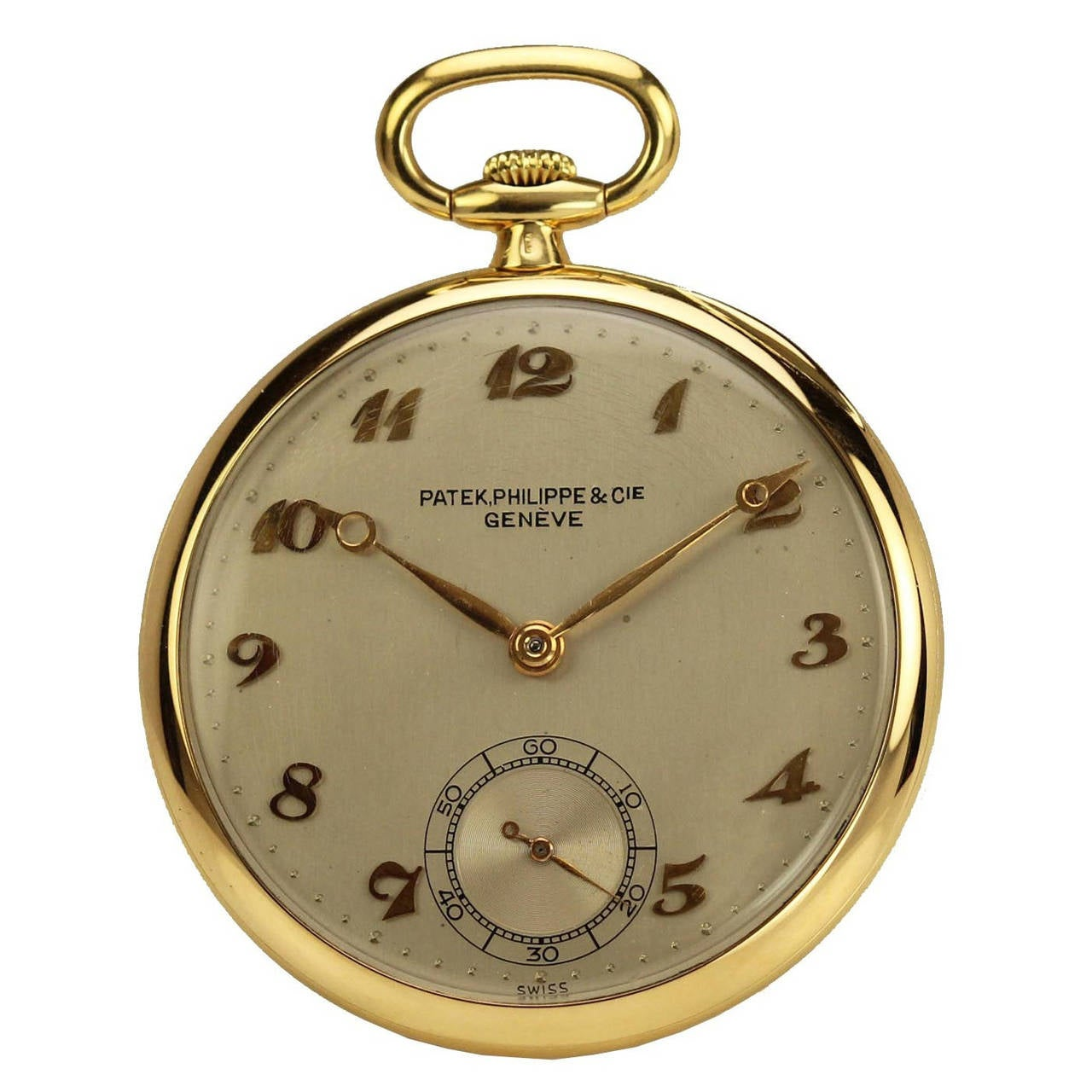 Patek Philippe Yellow Gold Open Face Pocket Watch
