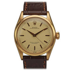Rolex Rose Gold Chronometre Oyster Perpetual Wristwatch Ref 6284