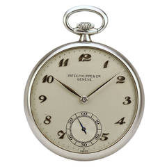 Patek Philippe Stainless Steel Open Face Pocket Watch
