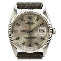 Rolex Stainless Steel Oyster Perpetual Datejust Wristwatch