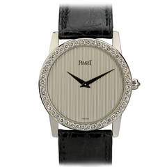 Piaget Lady's White Gold Diamond Wristwatch Ref 9895