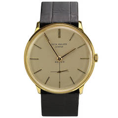 Patek Philippe by Beyer Yellow Gold Wristwatch Ref 2573