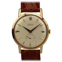 Rolex Rose Gold Precision Wristwatch circa 1950s