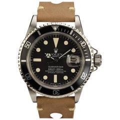 Rolex Stainless Steel Submariner Wristwatch Ref 1680 circa 1970s
