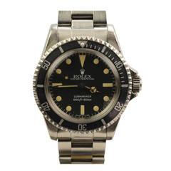 Rolex Stainless Steel Submariner Wristwatch Ref 5513 circa 1982