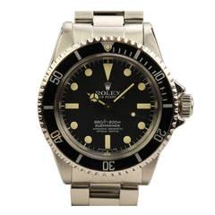 Rolex Stainless Steel Submariner Wristwatch Ref 5512 circa 1972
