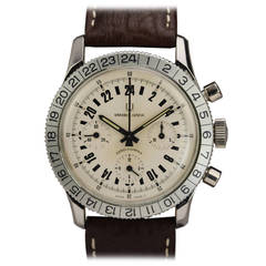 Universal Stainless Steel Aero Compax 24-Hour Chronograph Wristwatch circa 1960s