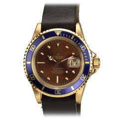 Rolex Yellow Gold Submariner Wristwatch Ref 1680 circa 1977