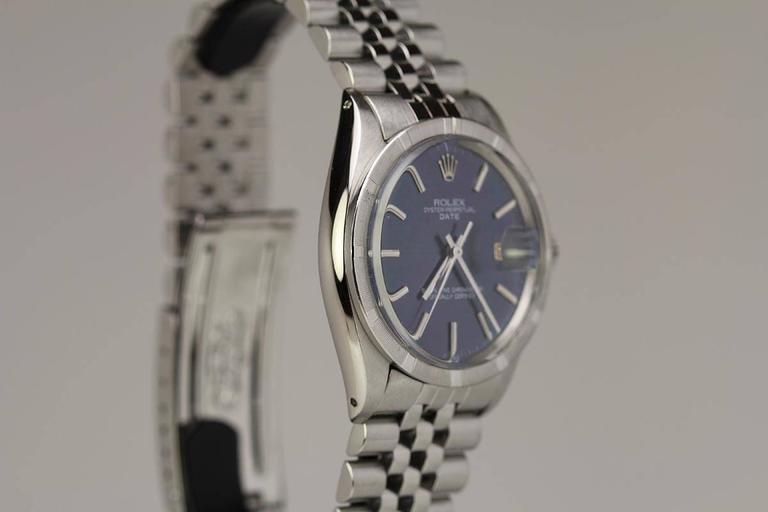 Rolex Stainless Steel Date Wristwatch Ref 1501 circa 1967 In Excellent Condition For Sale In Miami Beach, FL
