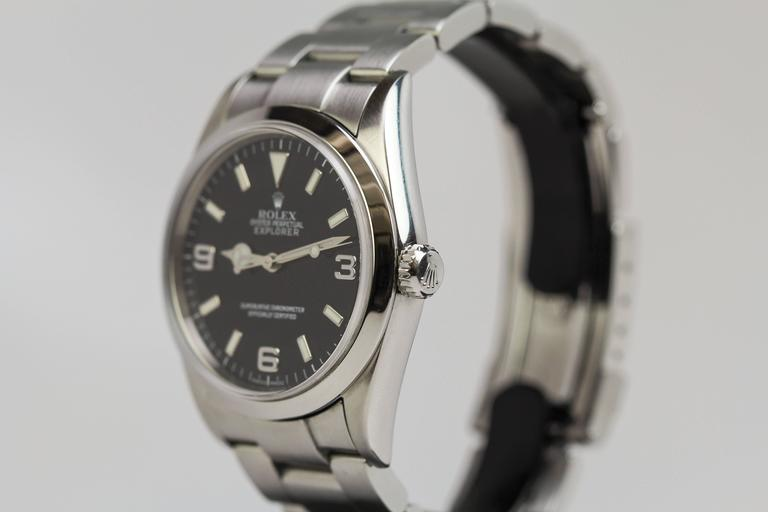 Rolex Stainless Steel Explorer Wristwatch Ref 114270  2