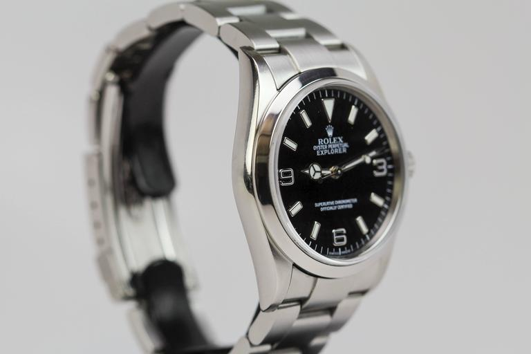 Rolex Stainless Steel Explorer Wristwatch Ref 114270  6