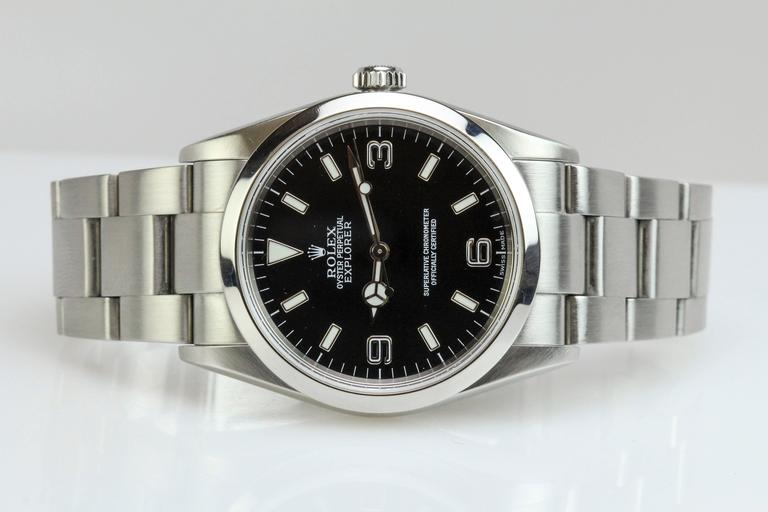 Rolex Stainless Steel Explorer Wristwatch Ref 114270  3