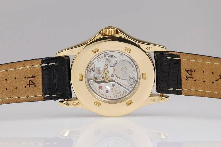 Patek Philippe Ladies Yellow Gold Calatrava Wristwatch Ref 4905 2