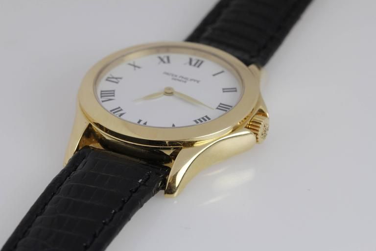 Patek Philippe Ladies Yellow Gold Calatrava Wristwatch Ref 4905 3
