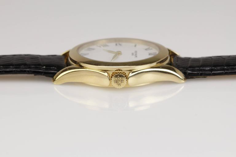 Patek Philippe Ladies Yellow Gold Calatrava Wristwatch Ref 4905 6