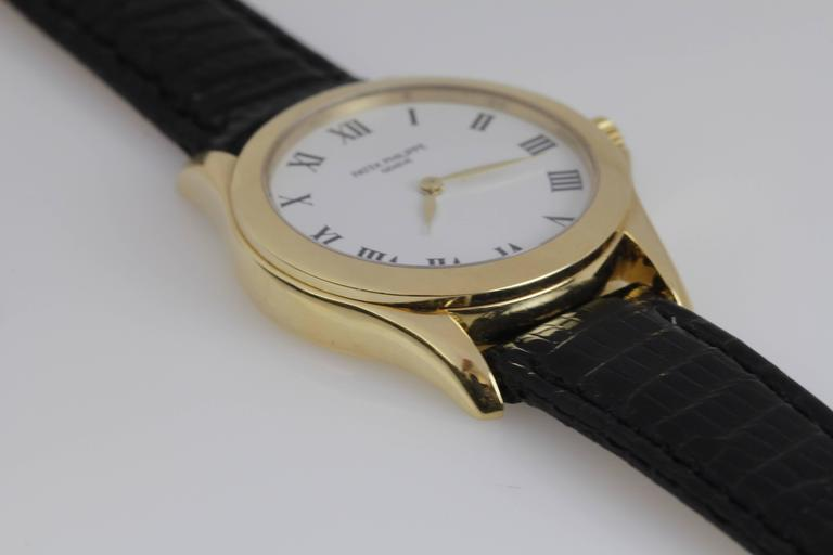 Patek Philippe Ladies Yellow Gold Calatrava Wristwatch Ref 4905 4