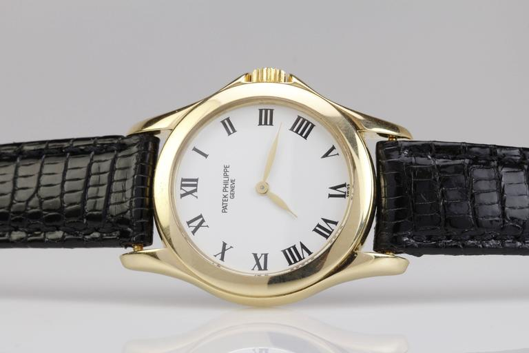Patek Philippe Ladies Yellow Gold Calatrava Wristwatch Ref 4905 5