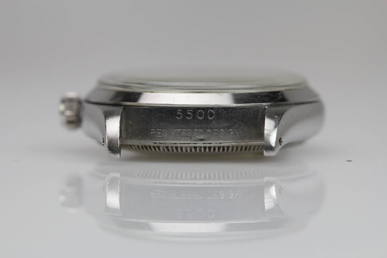 Rolex Stainless Steel Air King automatic Wristwatch Ref 5500, circa 1958 6