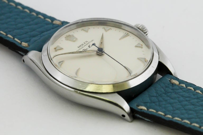 Rolex Stainless Steel Air King automatic Wristwatch Ref 5500, circa 1958 9