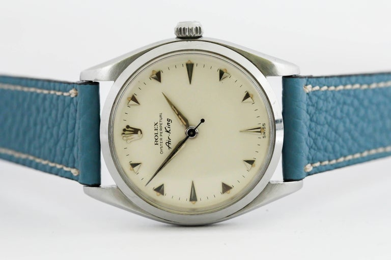 Rolex Stainless Steel Air King automatic Wristwatch Ref 5500, circa 1958 10
