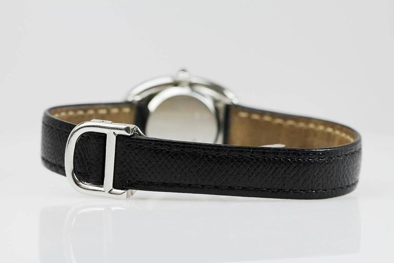 Rare Cartier Ladies Platinum Baignoire Wristwatch 5
