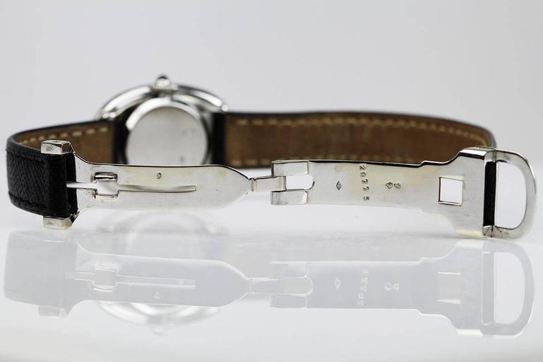 Rare Cartier Ladies Platinum Baignoire Wristwatch 4