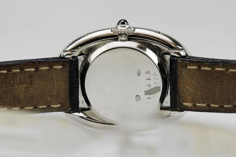 Rare Cartier Ladies Platinum Baignoire Wristwatch 6