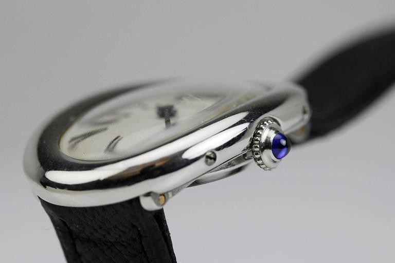 Rare Cartier Ladies Platinum Baignoire Wristwatch 8