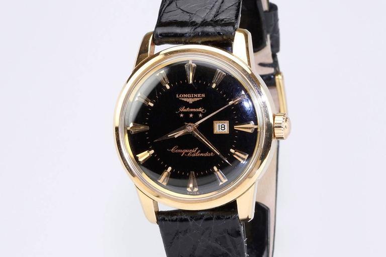 Longines Yellow Gold Conquest Calendar Wristwatch 2