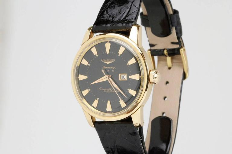 Longines Yellow Gold Conquest Calendar Wristwatch 3