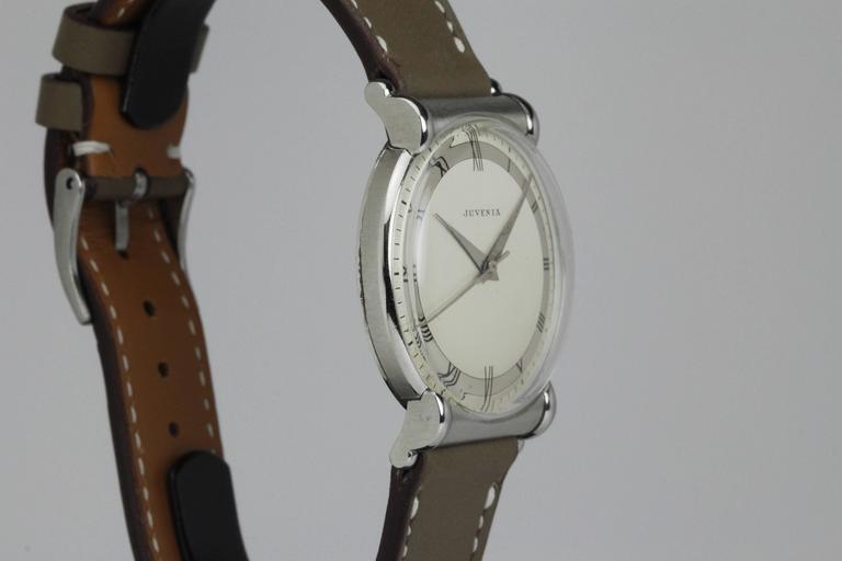 Juvenia Stainless Steel Calatrava Style Manual Wind Wristwatch 4