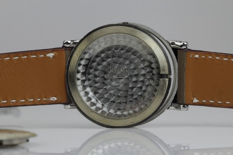 Juvenia Stainless Steel Calatrava Style Manual Wind Wristwatch 6